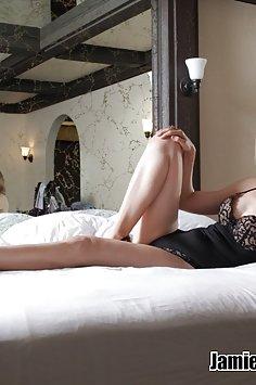 MILF Jamie Foster in lingerie - image