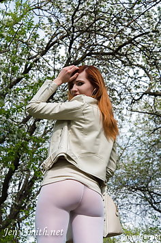 Jeny Smith cream leggings
