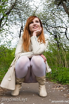 Jeny Smith cream leggings - image