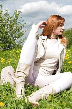 Jeny Smith cream leggings - image