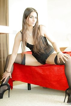 Clara Sweet in stockings