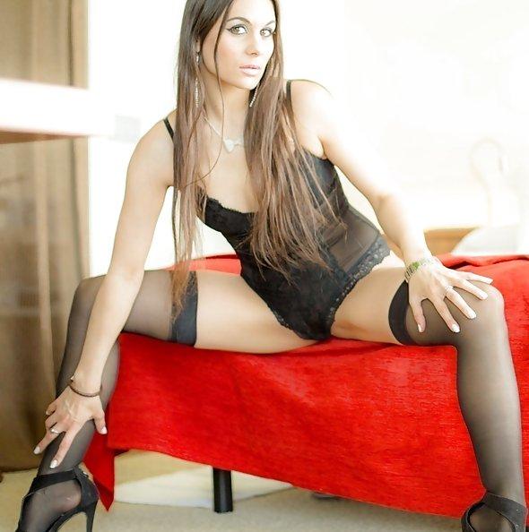 Clara Sweet in stockings