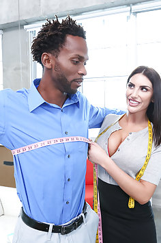 August Ames interracial with BBC | BangBros Monsters of Cock - image