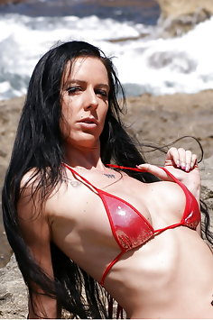 Texas Patti naked at beach - image