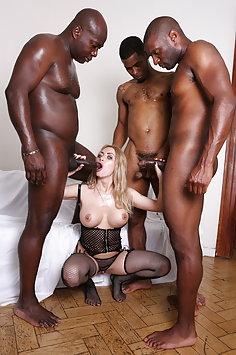 Isabella Clark interracial gangbang | Legal Porno - image