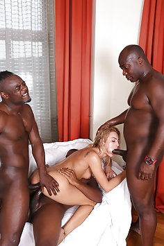 Cherry Kiss interracial double penetration with 3 BBC | Legal Porno - image