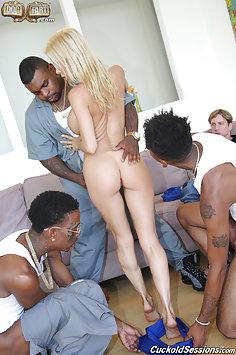 Alexis Fawx interracial gangbang | Dogfart Cuckold Sessions - image