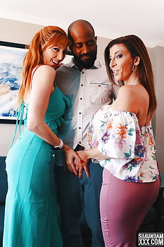 Lauren Phillips & Sara Jay interracial threesome | ShaundamXXX - image