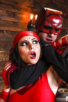 Ariana Marie as Elektra fucks Daredevil | Digital Playground Parody - image