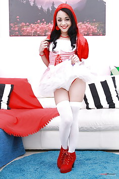 Holly Hendrix as Little Red Riding Hood having double anal penetration | Legal Porno - image