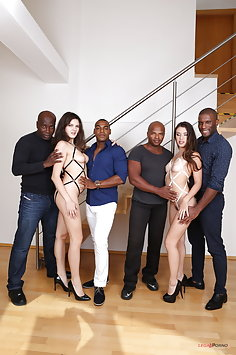 Tiffany Doll & Francesca Dicaprio interracial double anal with BBC | Legal Porno - image