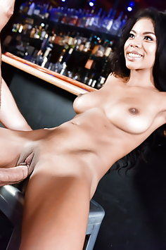 Nia Nacci interracial sex in bar | 21Sextury Club Sandy - image