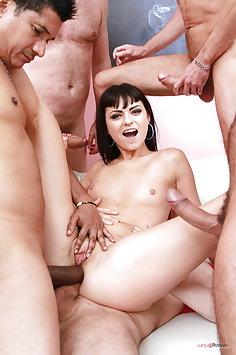Sonya Durganova double anal penetration in gangbang | LegalPorno - image