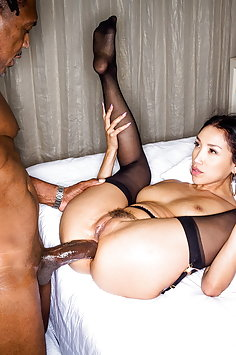 Vicki Chase interracial anal with BBC | BlackedRaw - image