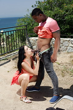 Kira Queen first interracial sex with BBC - image