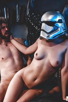 Stormtrooper Lily Labeau fucks Jedi Master in Star Wars porn parody