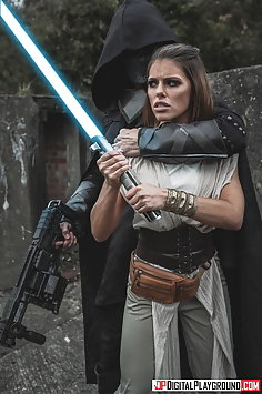 Jedi knight Adriana Chechik gangbanged by 3 Sith Lords in Star Wars porn parody