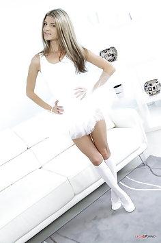 Ballerina Gina Gerson double anal gangbang | LegalPorno - image