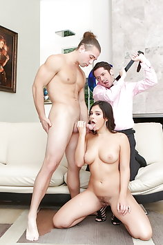 Violet Starr cuckold sex with husband's brother | Pimp.XXX Cucked - image