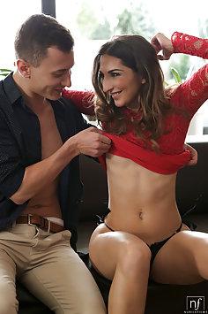 Spanish girl Jimena Lago enjoying sex | NubileFilms - image