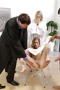 Church girl Haley Reed fucking during choir practice | Nubiles Porn: My Family Pies - image