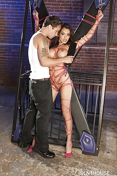 Daisy Marie bound with ropes gets fucked | Penthouse BDSM - image