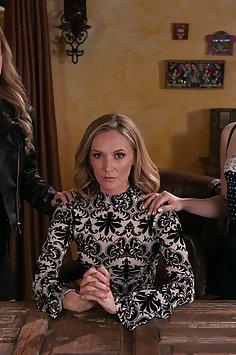Jenna Sativa & Mona Wales lesbian threesome with Kali Roses   Girlsway Mommy's Girl - image