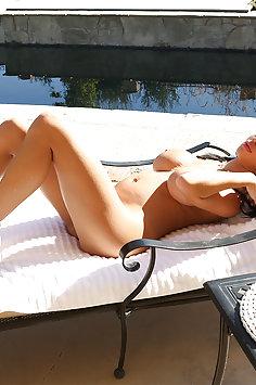 Busty latina Victoria June in bikini   KellyMadison - image