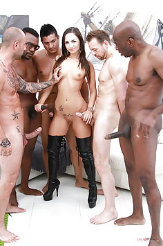 Kristy Black double anal penetration gangbang | LegalPorno - image