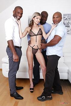 Gina Gerson interracial double penetration gangbang | LegalPorno - image
