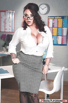 Busty teacher Harmony Reigns fucks student | DigitalPlayground - image