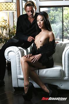 Asian Saya Song interracial affair with Tyler Nixon | NewSensations - image
