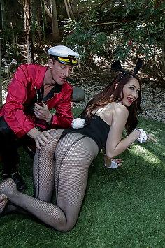 Easter bunnies Lily Adams, Jenna Foxx & Nina Skye reverse gangbang | BFFs - image