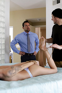 Emma Hix tied up & fucked | Nubiles Porn: Bad Teens Punished - image