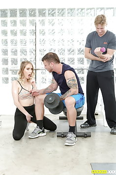 Cadence Lux cuckold sex at gym | Pimp.XXX Cucked - image