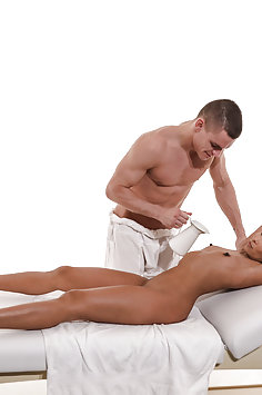 Asian Suzie Q gets oil sex massage from Max Dyor | MassageRooms - image