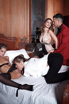 Royal Lover for Alexis Crystal & Tiffany Tatum while Claire Castel films them | DorcelClub - image
