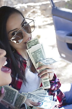Lesbian criminals Tia Cyrus & Veronica Rodriguez scissor after robbery   Babes - image