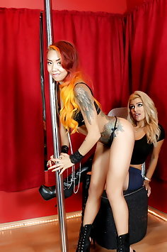 Briana Lee lapdance with Kimberley Chi - image