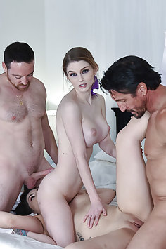 Nadya Nabakova & Raven Reign fuck each other's dad | DaughterSwap - image