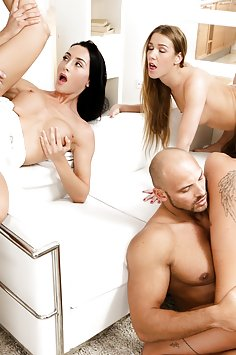 Alexis Crystal, Silvia Dellai & Anna Rose swinger orgy | DoghouseDigital - image