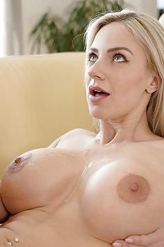 Busty blonde Nathaly Cherie fucking | NFbusty - image