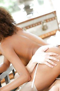 Black beauty Luna Corazon interracial love | 21Naturals - image