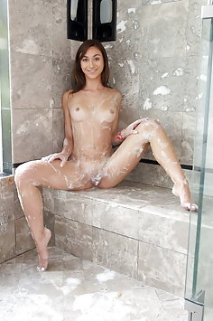 Ana Rose gets shower creampie from stalker | Cum4K - image