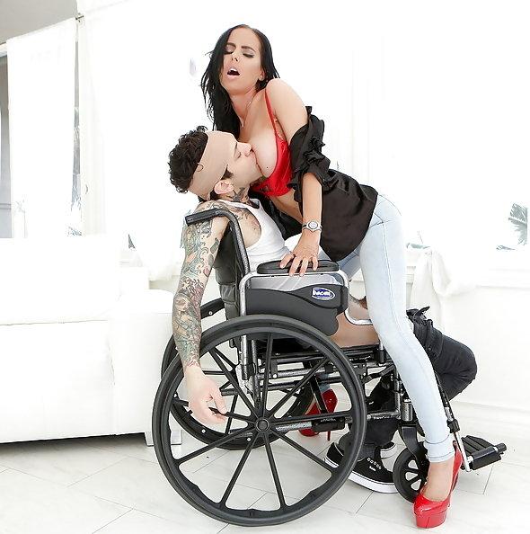Stepmom Brandy Aniston fucks stepson in wheelchair | Pimp.XXX Family