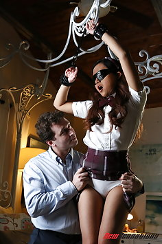 Asian schoolgirl Elle Voneva tied & fucked by James Deen | NewSensations - image