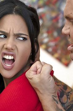 Apolonia Lapiedra deepthroat fucked hard by Nacho Vidal | PornFidelity - image