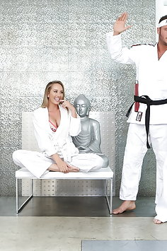 Brett Rossi cuckold sex with martial arts instructor at dojo | Pimp.XXX Cucked - image
