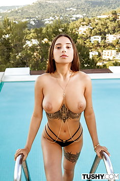 Busty Student Liya Silver anal fucked by sugar daddy | Tushy - image