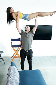 Acrobatic sex with busty petite latina Shay Evans | Mofos: Don't Break Me - image